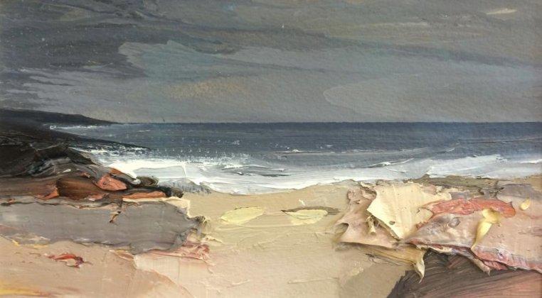 a wide bay and a wet sky islay   chris bushe rsw