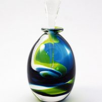 Jane  Charles Turquoise Citrus Swirl Bottle (JC15/16)