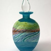 Thomas Petit Sea Shore Waves Round Stoppered Bottle
