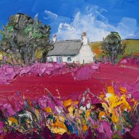 Judith I. Bridgland Cottage and Yellow Flowers Talisker