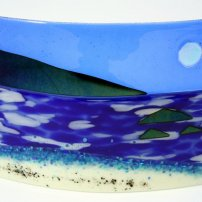 Scott Irvine Large Fused Glass Horizon Panel (SI 340/17)