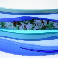 Scott Irvine Large Fused Glass Horizon Panel (SI 341/17)