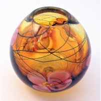 Siddy  Langley Amber African Violet Egg Shaped Vase
