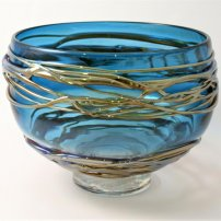 Allister Malcolm Extra Large Golden Trailing Bowl