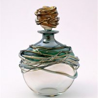 Allister Malcolm Golden Trailing Scent Bottle