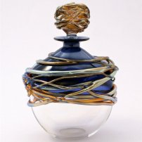 Allister Malcolm Golden Trailing Scent Bottles