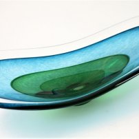 Richard Glass Aqua Saturn Bowl