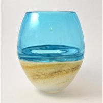 Richard Glass Copper Round Beach Vase