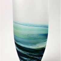 Richard Glass Seascape Rockpool Tall Aqua