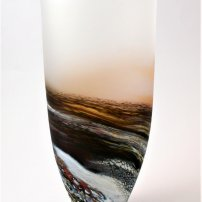 Richard Glass Seascape Rockpool Tall Red