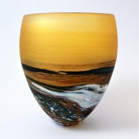 Richard Glass Seascape Round Amber