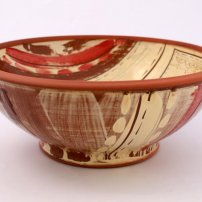 Victoria Claire Dawes Audra Serving Bowl - Red