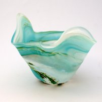 Lesley Clarke Wyld Green Flared Bowl
