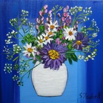 Sheila  Fowler Summer Flowers with Daisies