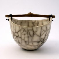 Anne  Morrison Tiny Crackle Bowl With Wood