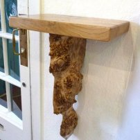 Strathearn Woodwork Burr Oak Sconce
