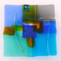 Kim Bramley Earth Blue, Grey Plate