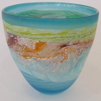 Thomas Petit Medium Bowl - Sea Shore (Waves)