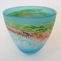 Thomas Petit Small Bowl - Sea Shore (Waves)