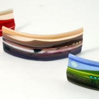 Scott Irvine Small Fused Glass Horizon Panels  SI189, SI190, SI191(16)