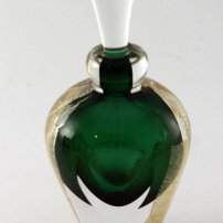 Kalki Mansel Emerald Green Facetted Scent Bottle