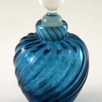 Sanders and Wallace Indigo Shell Bottle