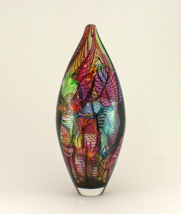 Tall Mini Mosaic Vase Bob Crooks Strathearn Gallery
